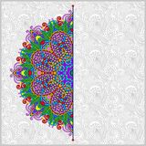 Floral round pattern in ukrainian oriental ethnic Royalty Free Stock Photography