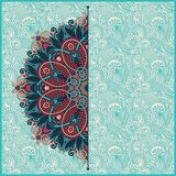 Floral round pattern in ukrainian oriental ethnic Royalty Free Stock Images