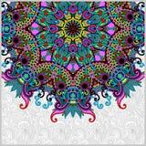 Floral round pattern in ukrainian oriental ethnic Stock Image