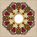 Floral round pattern in ukrainian oriental ethnic Stock Images