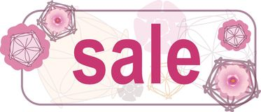 Floral sale sign Royalty Free Stock Image