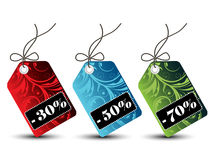 Floral sales tags stock photos