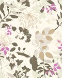 Floral sample. Decorative repeat floral pattern in pastel colours Stock Photos