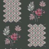 Floral sans couture avec le modèle de dessin géométrique illustration de vecteur