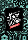 Floral save the date invitation card template /illustration Stock Photography