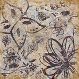 Floral Scrapbook Background Royalty Free Stock Photo