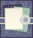 Floral scrapbook card Royalty Free Stock Images