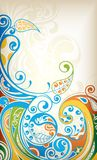 Floral Scroll. Illustration of abstract curly floral background Stock Images