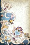 Floral Scroll Stock Image
