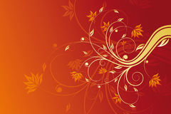 Floral scroll Royalty Free Stock Images