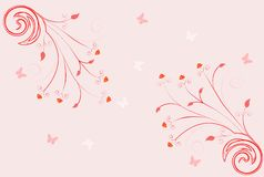 Floral scroll royalty free illustration