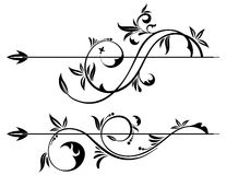 Floral Scroll Element Stock Photos