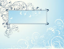 Floral_scroll_frame Royalty Free Stock Photos