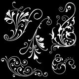Floral Scroll Ornaments Royalty Free Stock Images