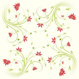 Floral scroll pattern Royalty Free Stock Images