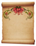 Floral Scrolling Parchment Stock Image