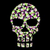 Floral scull stock illustration