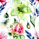 Floral seamles pattern Stock Photos