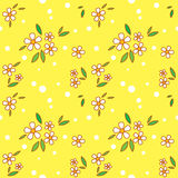 Floral seamless. Cute summer floral seamless background Royalty Free Stock Photography