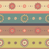 Beautiful vintage seamless floral background Stock Images