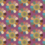 Floral seamless abstract vector pattern, repeating vintage retro background Stock Photo