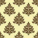 Floral seamless arabesque pattern Royalty Free Stock Photo