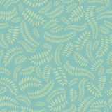 Floral seamless autumn background. Seamless pattern with leaves on blue background Stock Images