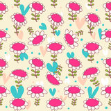 Floral seamless baby pattern. Camomiles delicate texture. Daisy. Bright background with flowers Stock Photo