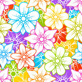 Floral seamless background. Vector floral colorful seamless background Royalty Free Stock Photos