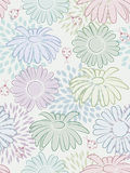 Floral seamless background. Seamless background with flowers and ladybirds Royalty Free Stock Photo