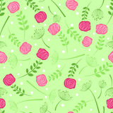 Floral seamless background Royalty Free Stock Photo