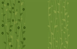 Floral seamless background. Light green Floral seamless background with leaves Royalty Free Stock Photography