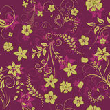 Floral seamless background. For yours design use. For easy making seamless pattern just drag all group into swatches bar, and use it for filling any contours Stock Images