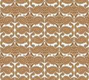 Floral seamless background. Abstract beige and brown floral geometric Seamless Texture Royalty Free Stock Image