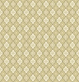 Floral seamless background. Abstract beige and green floral geometric Seamless Texture Royalty Free Stock Image