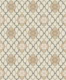 Floral seamless background. Abstract black, beige and white floral geometric Seamless Texture Royalty Free Stock Photo
