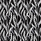 Floral seamless background. Abstract black and whi Stock Images