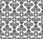 Floral seamless background. Abstract black and white floral geometric Seamless Texture Royalty Free Stock Image