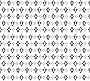 Floral seamless background. Abstract black and white floral geometric Seamless Texture Stock Image