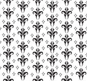 Floral seamless background. Abstract black and white floral geometric Seamless Texture Royalty Free Stock Photos