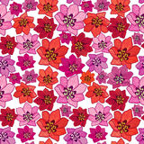 Floral seamless background. Abstract Bloom Seamless Texture Stock Photo
