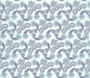 Floral seamless background. Abstract blue floral geometric Seamless Texture. Abstract Floral Seamless Vector Background Texture. Floral texture. Lacy geometric stock illustration