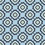 Floral seamless background. Abstract blue floral geometric Seamless Texture Stock Images