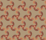 Floral seamless background. Abstract brown floral geometric Seamless Texture Royalty Free Stock Photos