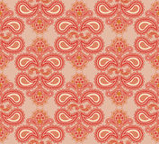 Floral seamless background. Abstract brown and whit Stock Photos