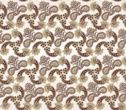 Floral seamless background. Abstract brown and whit Royalty Free Stock Image