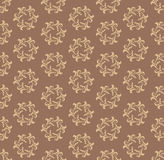 Floral seamless background. Abstract brown and whit Royalty Free Stock Images