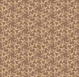 Floral seamless background. Abstract brown and whit Royalty Free Stock Photos