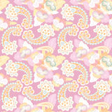 Floral seamless background. Abstract flourish pattern Royalty Free Stock Photos