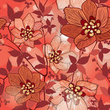 Floral seamless background. Abstract  flower geometric Seamless Texture Royalty Free Stock Image